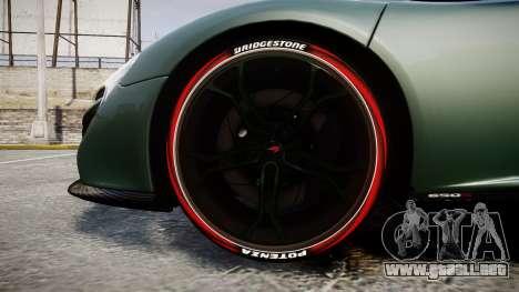 McLaren 650S Spider 2014 [EPM] Bridgestone v2 para GTA 4 vista hacia atrás