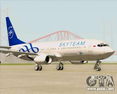 Boeing 737-86N Garuda Indonesia para GTA San Andreas left