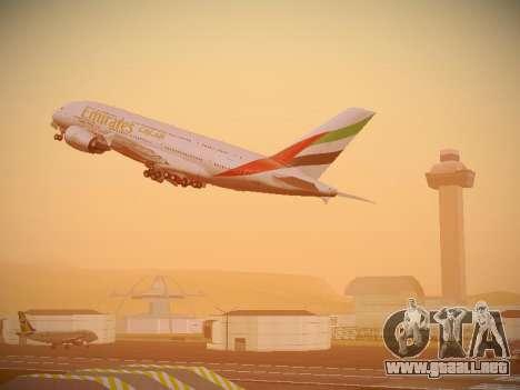 Airbus A380-800 Emirates para las ruedas de GTA San Andreas