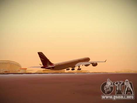 Airbus A340-600 Qatar Airways para vista lateral GTA San Andreas
