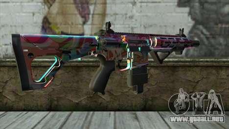 Graffiti Assault rifle v2 para GTA San Andreas segunda pantalla