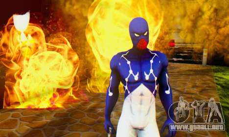 Skin The Amazing Spider Man 2 - Suit Cosmic para GTA San Andreas