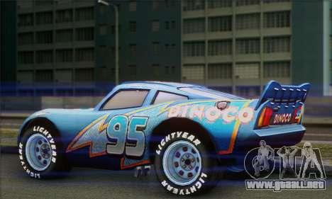 Lightning McQueen Dinoco para GTA San Andreas left