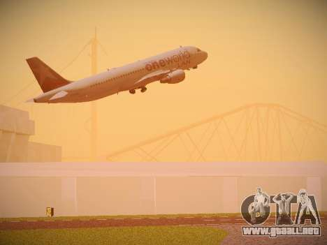 Airbus A320-214 LAN Oneworld para GTA San Andreas interior