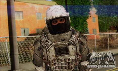 Task Force 141 (CoD: MW 2) Skin 3 para GTA San Andreas tercera pantalla