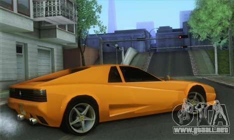Cheetah Testarossa para GTA San Andreas left