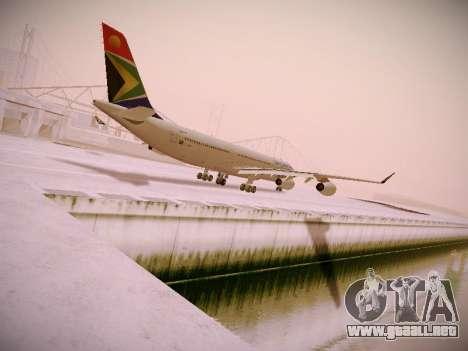 Airbus A340-300 South African Airways para GTA San Andreas vista posterior izquierda