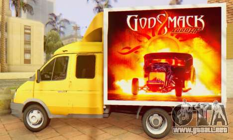 33023 Gacela Godsmack - ha 1000hp (2014) para la visión correcta GTA San Andreas
