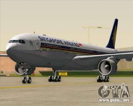 Airbus A330-300 Singapore Airlines para vista inferior GTA San Andreas