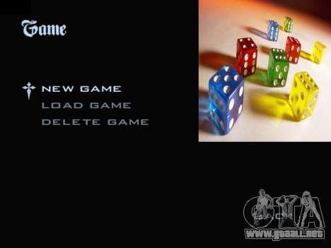Menu Gambling para GTA San Andreas segunda pantalla