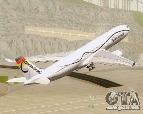 Airbus A330-300 Fly International para GTA San Andreas