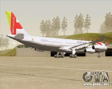 Airbus A340-312 TAP Portugal para la visión correcta GTA San Andreas