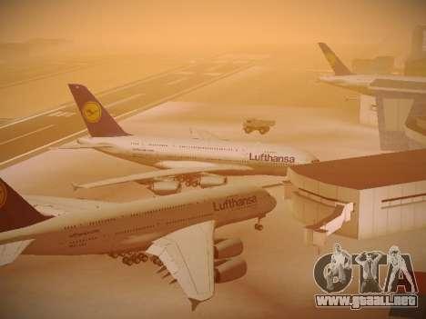 Airbus A380-800 Lufthansa para vista inferior GTA San Andreas