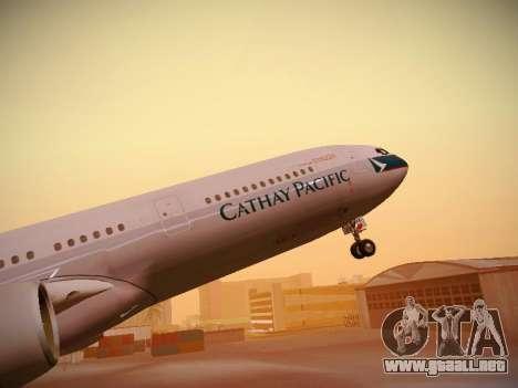 Airbus A340-300 Cathay Pacific para las ruedas de GTA San Andreas