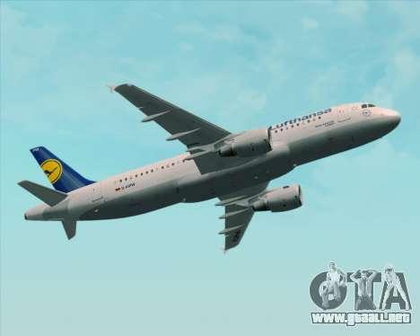 Airbus A320-211 Lufthansa para las ruedas de GTA San Andreas