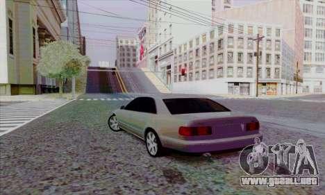 Audi A8 para GTA San Andreas vista hacia atrás