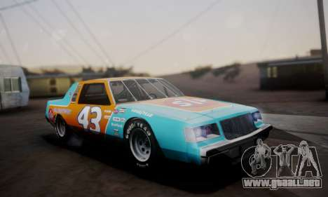 Buick Regal 1983 para vista lateral GTA San Andreas
