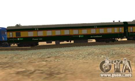 Pakistan Railways Train para GTA San Andreas vista posterior izquierda
