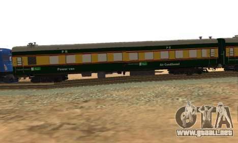 Pakistan Railways Train para GTA San Andreas vista posterior izquierda