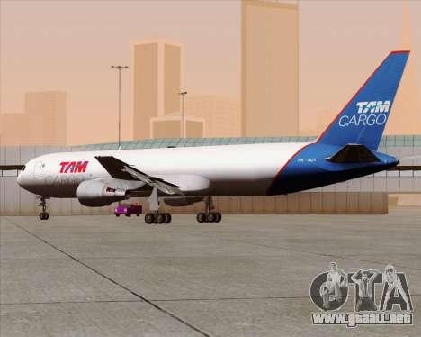 Boeing 767-300ER F TAM Cargo para visión interna GTA San Andreas