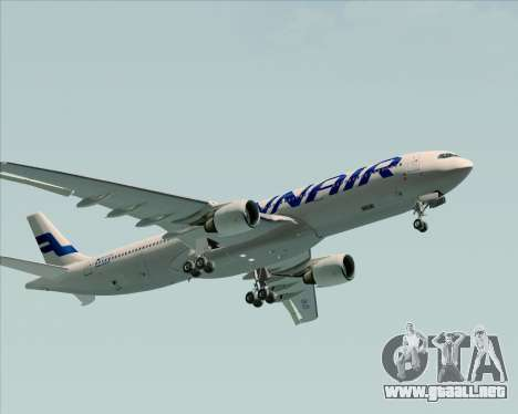 Airbus A330-300 Finnair (Current Livery) para la vista superior GTA San Andreas