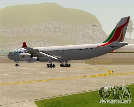 Airbus A340-313 SriLankan Airlines para la visión correcta GTA San Andreas