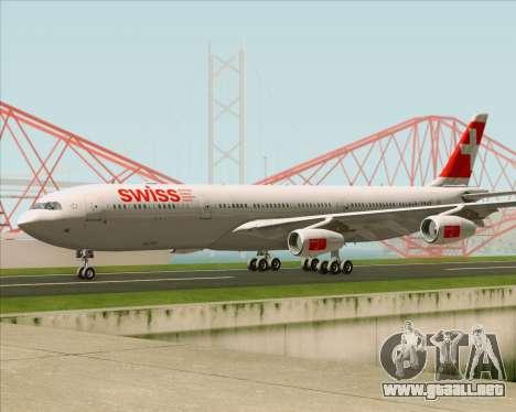 Airbus A340-313 Swiss International Airlines para visión interna GTA San Andreas