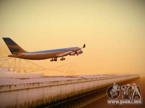 Airbus A340-300 De Aerolíneas Argentinas para GTA San Andreas vista posterior izquierda