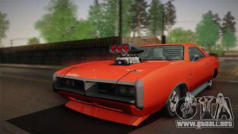 GTA 4 Dukes Tunable para GTA San Andreas vista posterior izquierda