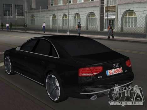 Audi A8 2010 W12 Rim6 para GTA Vice City vista lateral izquierdo