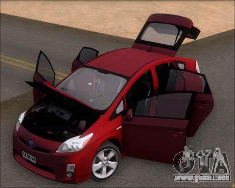 Toyota Prius para GTA San Andreas vista hacia atrás