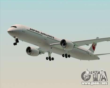 Airbus A350-941 Japan Airlines para vista lateral GTA San Andreas