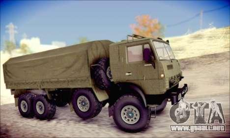 El KamAZ-6350 (APT) para GTA San Andreas vista posterior izquierda