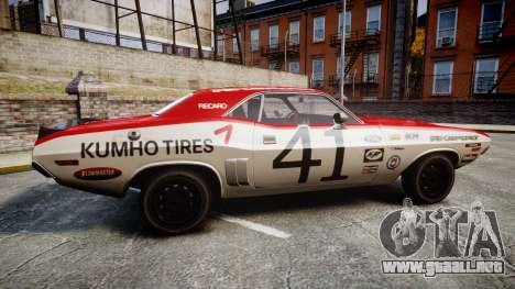 Dodge Challenger 1971 v2.2 PJ7 para GTA 4 left