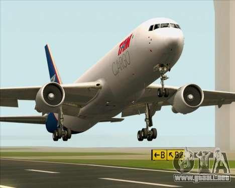 Boeing 767-300ER F TAM Cargo para vista inferior GTA San Andreas