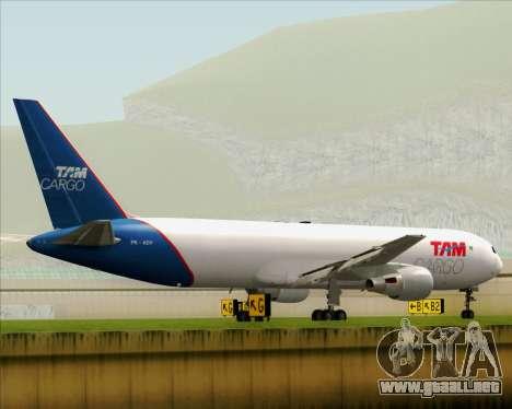 Boeing 767-300ER F TAM Cargo para la visión correcta GTA San Andreas