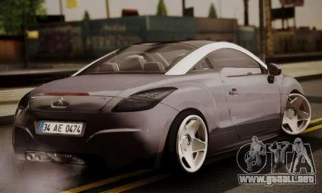 Peugeot RCZ para GTA San Andreas left