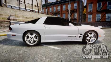 Pontiac Firebird Trans Am 2002 para GTA 4 left