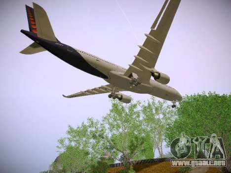 Airbus A330-300 Brussels Airlines para visión interna GTA San Andreas