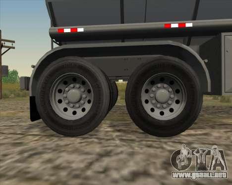 Remolque tanque Carro Copec para vista lateral GTA San Andreas