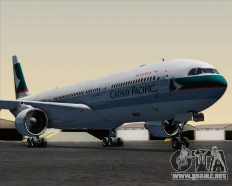 Airbus A330-300 Cathay Pacific para GTA San Andreas interior