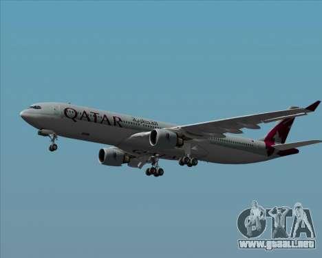 Airbus A330-300 Qatar Airways para la vista superior GTA San Andreas