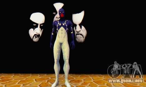 Skin The Amazing Spider Man 2 - Suit Cosmic para GTA San Andreas tercera pantalla