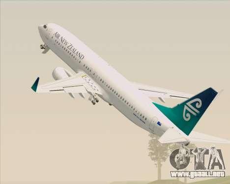 Boeing 737-800 Air New Zealand para las ruedas de GTA San Andreas