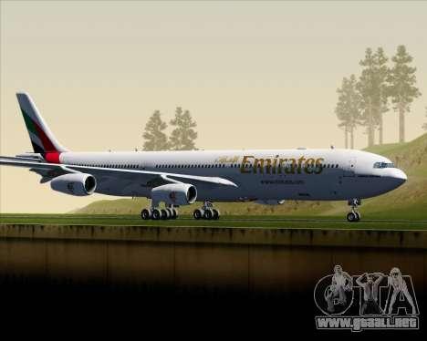 Airbus A340-313 Emirates para GTA San Andreas left