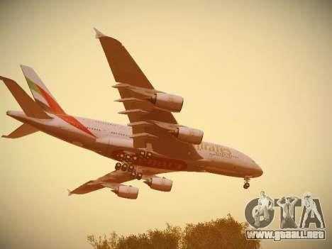 Airbus A380-800 Emirates para GTA San Andreas interior