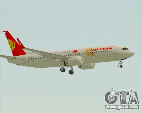 Boeing 737-89L Air China para GTA San Andreas vista hacia atrás