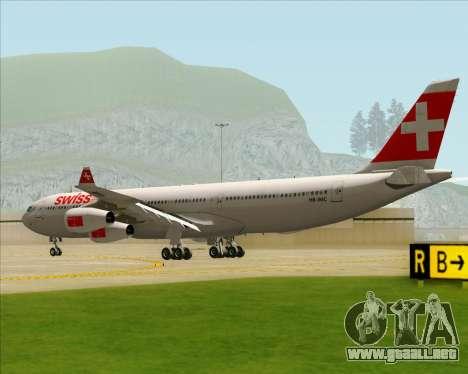 Airbus A340-313 Swiss International Airlines para la visión correcta GTA San Andreas