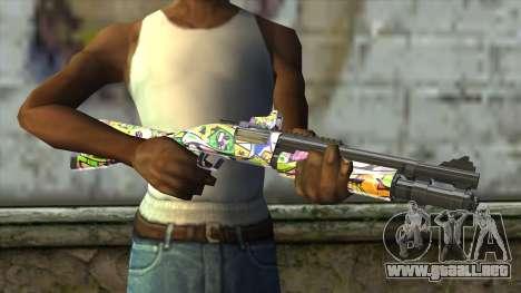 Graffiti Shotgun para GTA San Andreas tercera pantalla