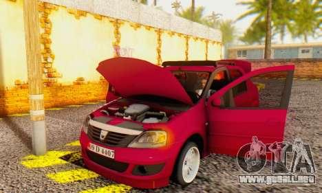 Dacia Logan 1.6 MPI Tuning para visión interna GTA San Andreas